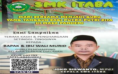 PPDB SMK ITABA Tahun Ajaran 2021-2022